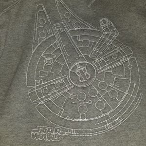 Boys Star Wars Sweatshirt Gap Millennium Falcon